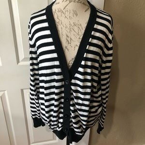 Torrid Striped Button Front Cardigan Sweater